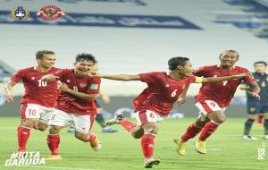 Selebrasi pemain Timnas Indonesia © instagram @pssi