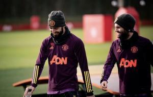 Juan Mata dan Bruno Fernandes © Twitter (@B_Fernandes8)