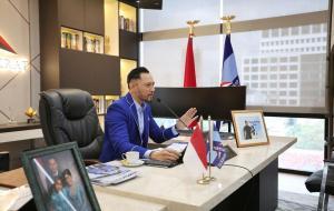 Ketua Umum Partai Demokrat saat menghadiri Webinar yang diinisiasi oleh teman-teman dari IRI © Instagram.com/agusyudhoyono/