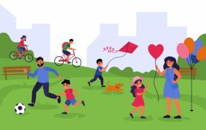 Ilustrasi aktivitas fisik yang bisa dilakukan keluarga secara bersama. © freepik.com