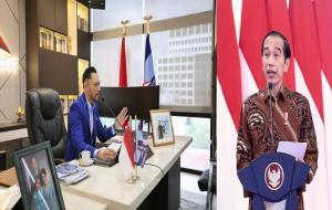 Kiri: Ketum Partai Demokrat, AHY / Kanan: Presiden © Instagram.com/agusyudhoyono, instagram/Jokowi