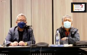 Anthonius Malau (kanan), dalam Diskusi Teknis Penanganan dan Penegekan Hukum Disinformasi Hoaks Covid-19, secara virtual pada Selasa (23/2). © kominfo.go.id
