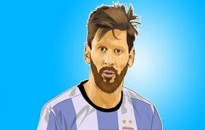 Vector Lionel Messi © Abdullah Munzer dari Pixabay
