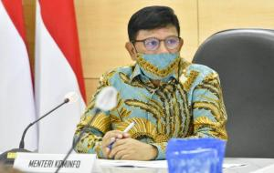 Menteri Komunikasi dan Informatika, Johnny G. Plate dalam Rapat Kerja Nasional Akselerasi Transformasi Digital © Kominfo/AYH
