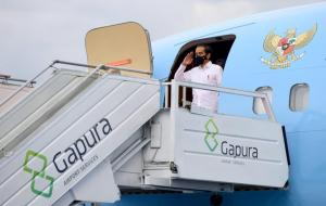 Presiden Joko Widodo tiba di Daerah Istimewa Yogyakarta pada Minggu (28/2) dalam kunjungan kerjanya. © setneg.go.id