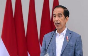 Presiden Republik Indonesia, Joko Widodo, dalam menyampaikan pidatonya © Biro Pers/Lukas