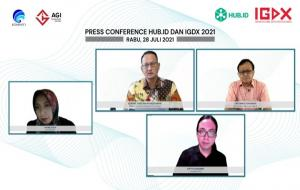 Konferensi pers mengenai program IGDX 2021 © Youtube( Kemkominfo TV)