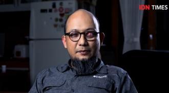 Tangkapan layar Novel Baswedan saat di wawancarai di IDN Times (Image Credit: Youtube (IDN Times))