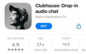 Clubhouse dalam appstore © tangkapan layar dari baluarti.com